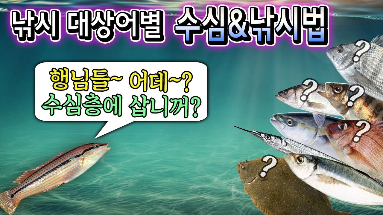 수심을 알아야 대상어를 잡는다? 대상어별 입질수심층을 알아보자.