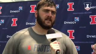 @IlliniFootball OL Joe Spencer Post-Practice Interview 8/13/15