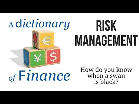 Risk management: How do you know when a swan is black?