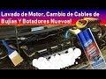 Lavar el motor del Ford KA ! Cambio de Botadores y Cambio de Cables de Bujias !