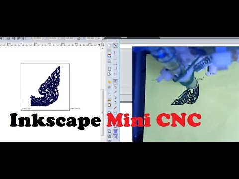 Inkscape + Uni GCode Sender + Arduino mini CNC