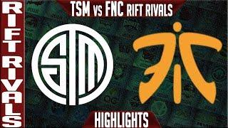 TSM vs FNC Highlights Game 4 Bo5 | Rift Rivals 2019 NA vs EU | Team Solomid vs Fnatic