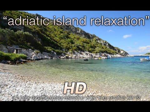 """Adriatic Island Relaxation"" Croatia Isla Viz 1 HR Nature Video w Music 1080p HD"