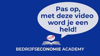 Economie Academy   uitleg bedrijfseconomie   Balans, resultatenrekening, liquiditeitsoverzicht