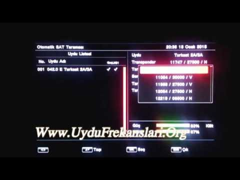 Uydu Cihazlarında Kanal Güncelleme veya Kurulum Nasıl Yapılır (Türksat 4A 42°E)
