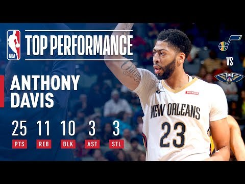 Anthony Davis Records A Career High 10 BLOCKS On His 25th Birthday