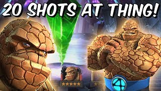 20x 5 Star The Thing Fantastic 4 Featured Crystal Opening! - Marvel Contest Of Champions