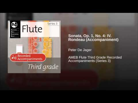 Sonata, Op. 1, No. 4: IV. Rondeau (Accompaniment)