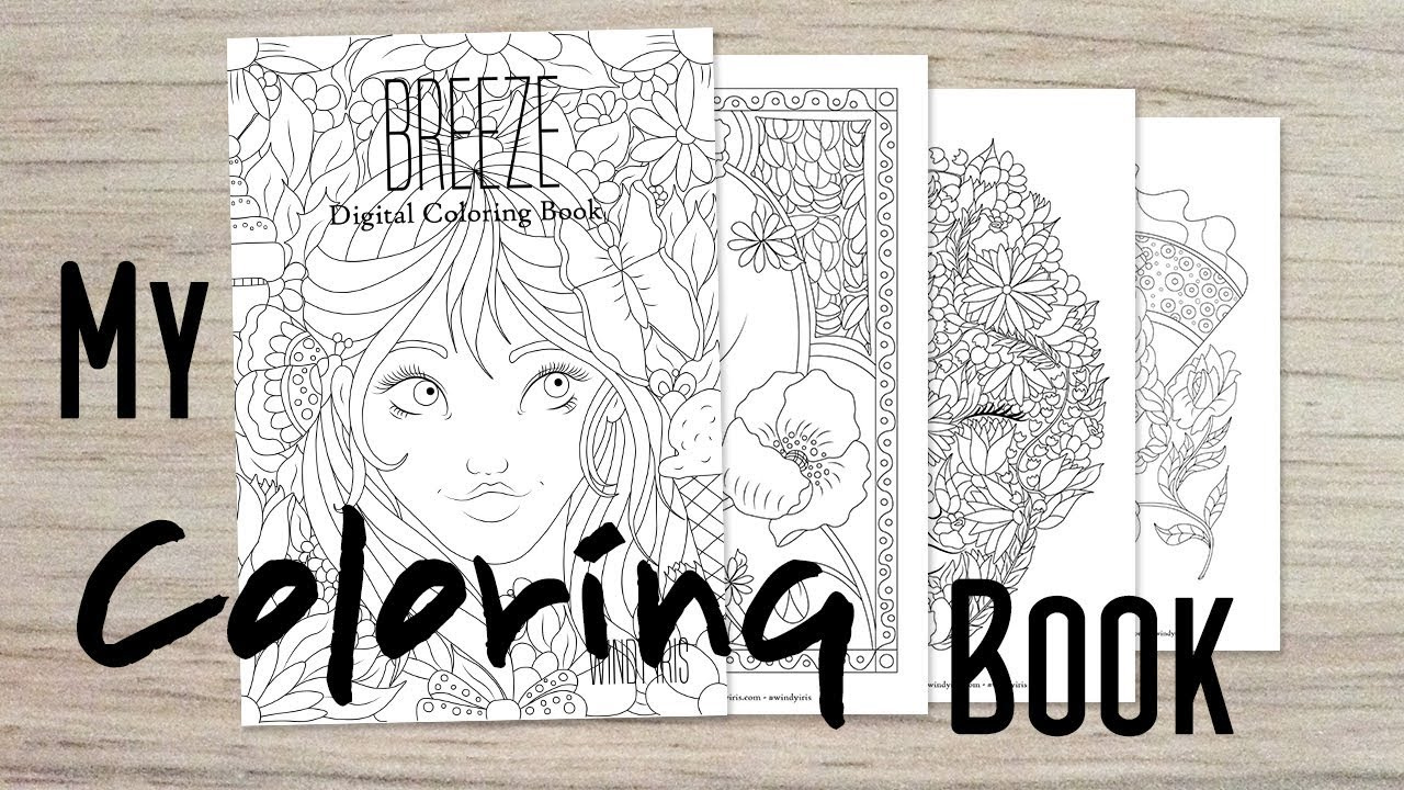 My New Coloring Book!!! Breeze PDF Coloring Book Walk Through. - YouTube