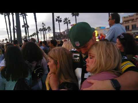 Las Vegas mass shooting vigil Huntington Beach California Club George VIP reporting