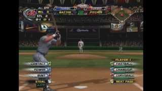 MLB Slugfest 2004: St. Louis Cardinals vs. Milwaukee Brewers (Full Game)