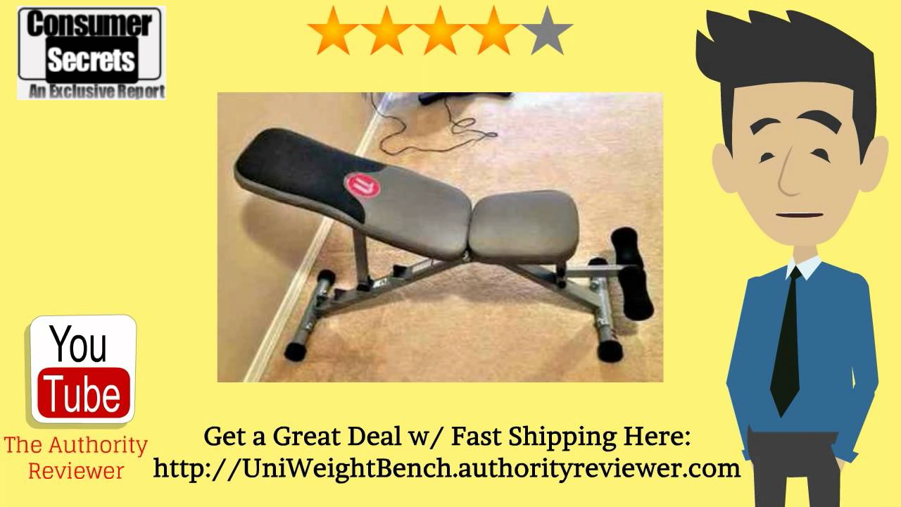 [Review U0026 SALE] Universal 5 Position Weight Bench