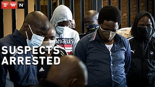 The five men arrested for the 2014 murder of Bafana Bafana and Orlando Pirates captain Senzo Meyiwa appeared at the Boksburg Magistrates Court on 27 October 2020.
