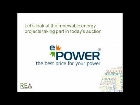 Webinar for Selling Renewable Energy Auction with e POWER