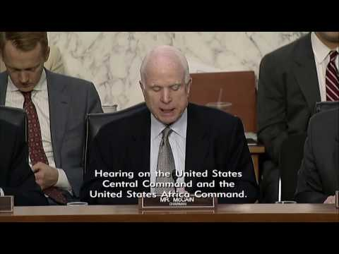 McCAIN OPENING STATEMENT AT SASC HEARING ON CENTCOM & AFRICOM