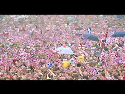 Crowds gather on The Mall for Golden Jubilee celebrations