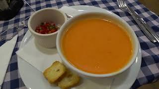 Последний обед в Каталонии - суп Гаспачо для русского богатыря