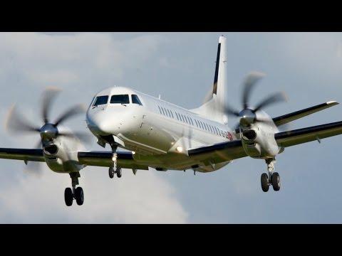 SkyWork Saab 2000  * Low Pass * Welcome to Bern !