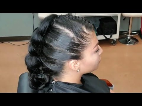 Easy to learn edgy hair style