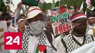 В Джакарте проходят акции в поддержку палестинцев - Россия 24