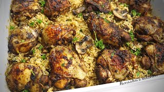 The ultimate Oven Baĸed Chicken and Rice | Baked chicken recipe