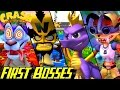 Evolution of First Bosses in Crash Bandicoot Games (1996-2016)