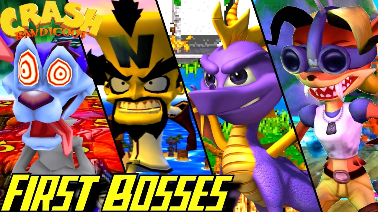 evolution of first bosses in crash bandicoot games 1996 2016 youtube