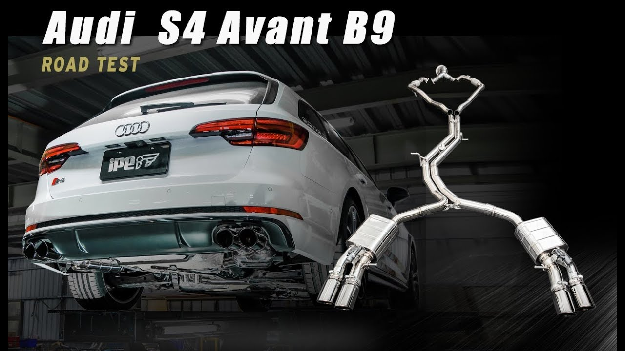 the ipe exhaust for audi s4 avant b9 sound check under the. Black Bedroom Furniture Sets. Home Design Ideas
