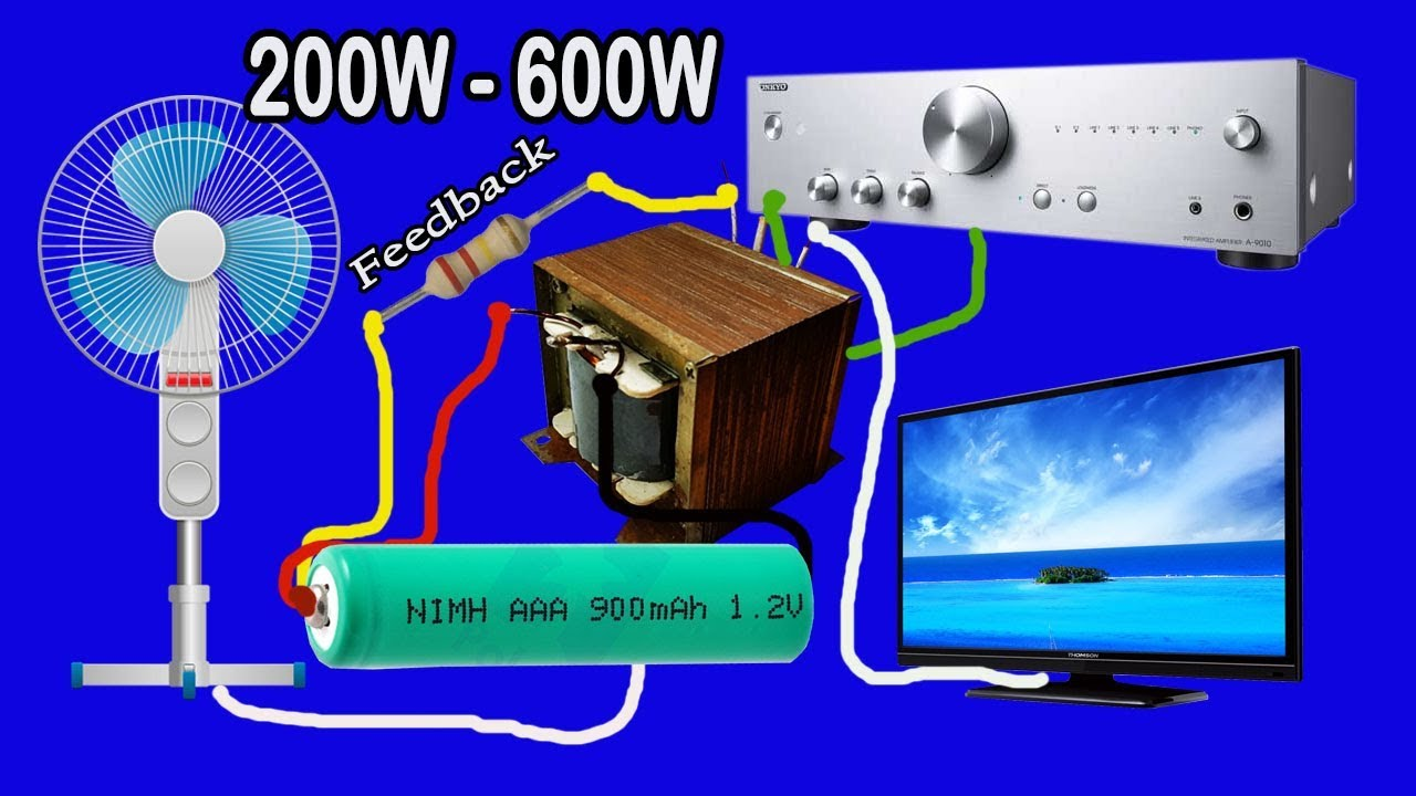 How to make Inverter 12V to 220V 200W to 600W with