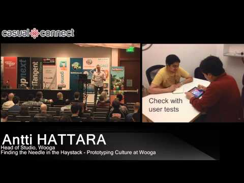 Finding the Needle in the Haystack - Prototyping Culture at Wooga   Antti HATTARA