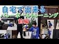 家でできるバレーボールの練習方法と筋トレ(前編)。小学生が自宅でも出来るボールを使う、スパイクスイングトレーニングメニューです。