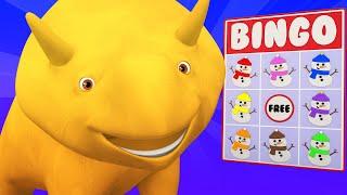 Lerne mit Dino - Winter Spezial Folge - Lerne Farben beim Schneemannbingo spielen mit Dino und Dina