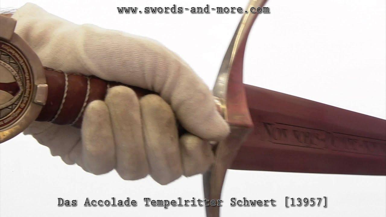 Das Accolade Tempelritter Schwert 13957 - YouTube