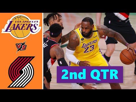 Los Angeles Lakers vs. Portland Trail Blazers Full Highlights 2nd Quarter | NBA Season 2021