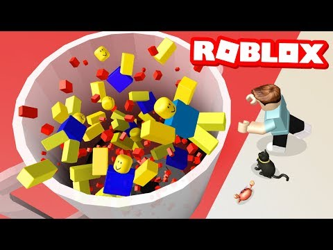 PUSH NOOBS INTO A BLENDER IN ROBLOX