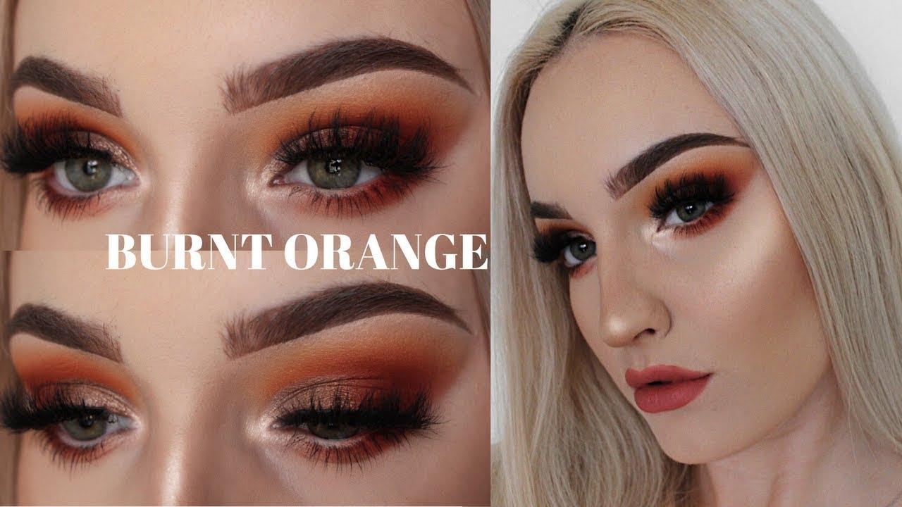 Burnt Orange Makeup Tutorial Youtube