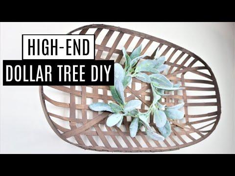 DIY Dollar Store Home Decor - Farmhouse DIY Tobacco Basket *NEW*