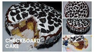 CHECKBOARD CAKE | FLUFFY AND PERFECT | CHRISTMAS CAKE