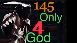 Gods of Olympus Hades Daily Challenge / Lv 145 / Only 4 God ! Video