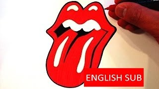 How to Draw the Rolling Stones - Mick Jagger Logo / Mick Jagger