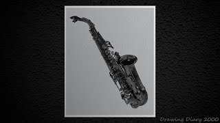 How to Draw Realistic Saxophone - Step by Step Tutorial By || Ravi Katiyar || Drawing Diary 2000 ||
