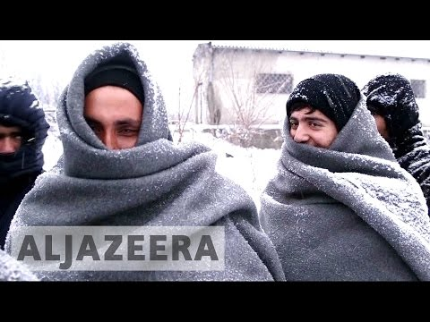 Refugees in Serbia face bitter cold