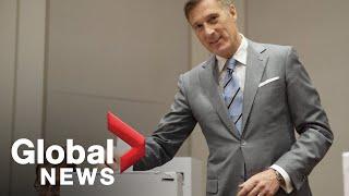 Canada Election: Maxime Bernier casts his ballot
