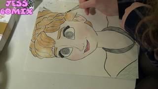 Anna from Frozen Speed Draw