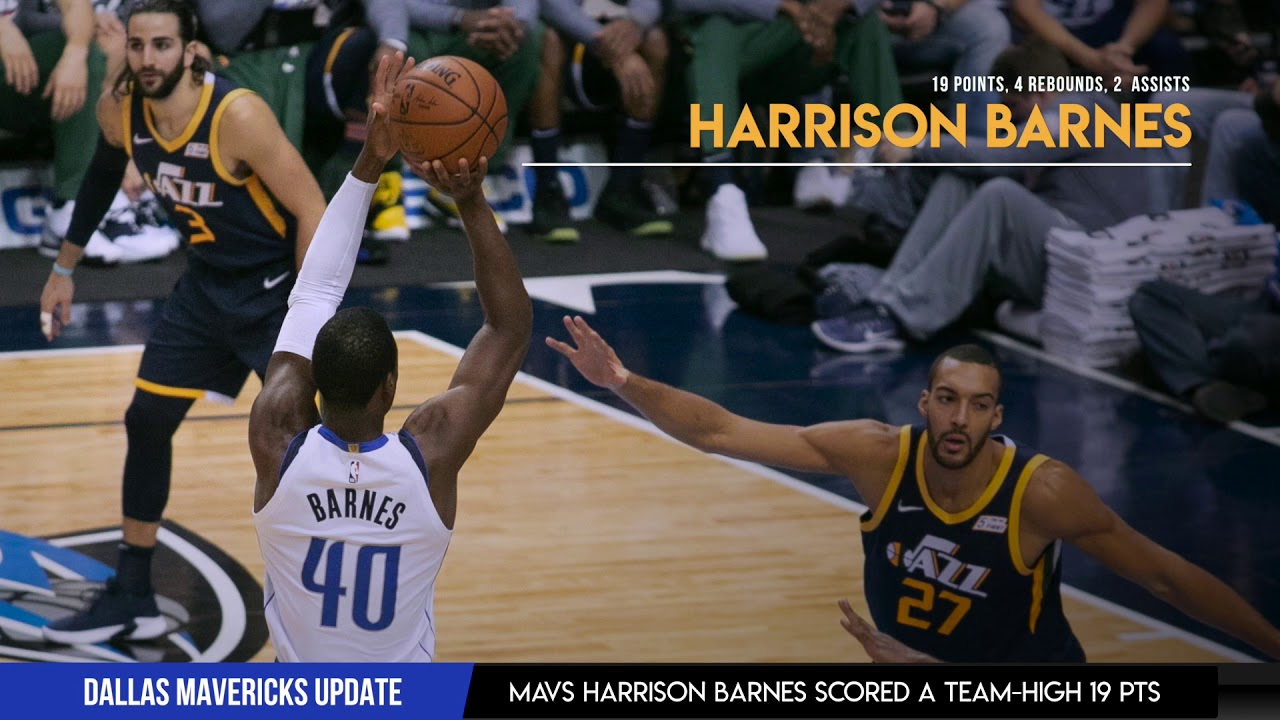 Utah Jazz vs Dallas Mavericks  DAL 50 Point Win  Harrison Barnes 19 Pts