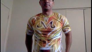 Asian size XXL vs US size M - Dragon Ball Z Vegeta shirt (Aliexpress, Alibaba, Ebay sellers/clothes)