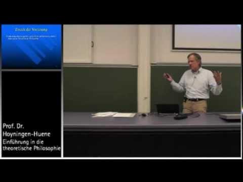 Einführung in die Theoretische Philosophie, 1. Vorl., Teil I