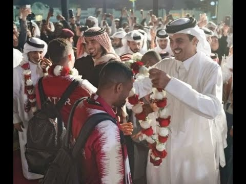 Amir of Qatar joins nation in rolling out a red carpet for Asian Cup champions