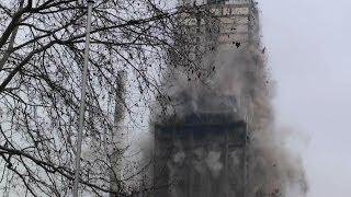 Sprengung des AfE-Turm in Frankfurt [Uni-Turm in Schutt und Asche] -Größte Sprengung in Europa-