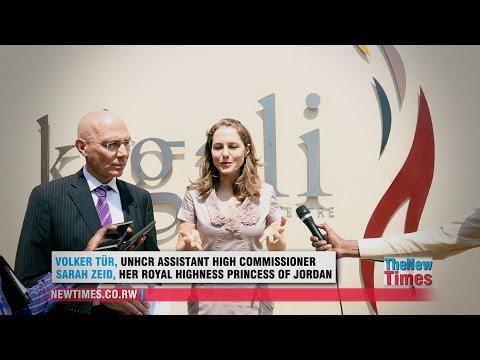 Her Royal Highness Princess Sarah Zeid at Kigali Genocide Memorial